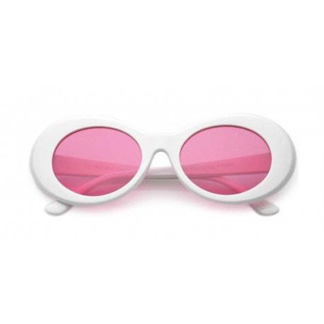 b7750eb6a3 Pink Oval Retro Sunglasses - Sunglass Holic